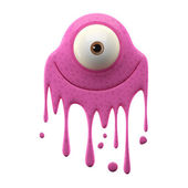 One-eyed pink monster — Stockfoto