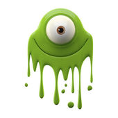 One-eyed green monster — Stockfoto