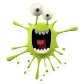 Blotch-shaped lime yelling monster — Stock Photo