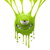 Dangle green mystifying monster — Stock Photo