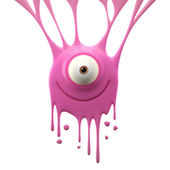 Dangle pink monster — Stock Photo