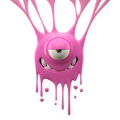 Dangle pink intriguing monster — Stock Photo