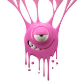 Dangle pink mystifying monster — Stock Photo