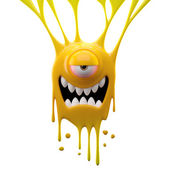 Dangle yellow crazy monster — Stock Photo