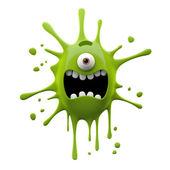 кричать зеленый одноглазый монстр — Стоковое фото