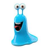Animado caracol azul sem casca — Foto Stock