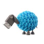 Blue USB sheep — Stock Photo