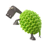 Green USB sheep — Stock Photo