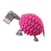 Pink USB sheep — Stock Photo