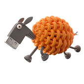 Orange USB sheep — Stock Photo