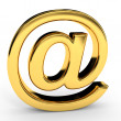 Golden e-mail sign. — Stock Photo