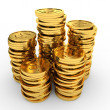 Heap gold coins. — Stock Photo