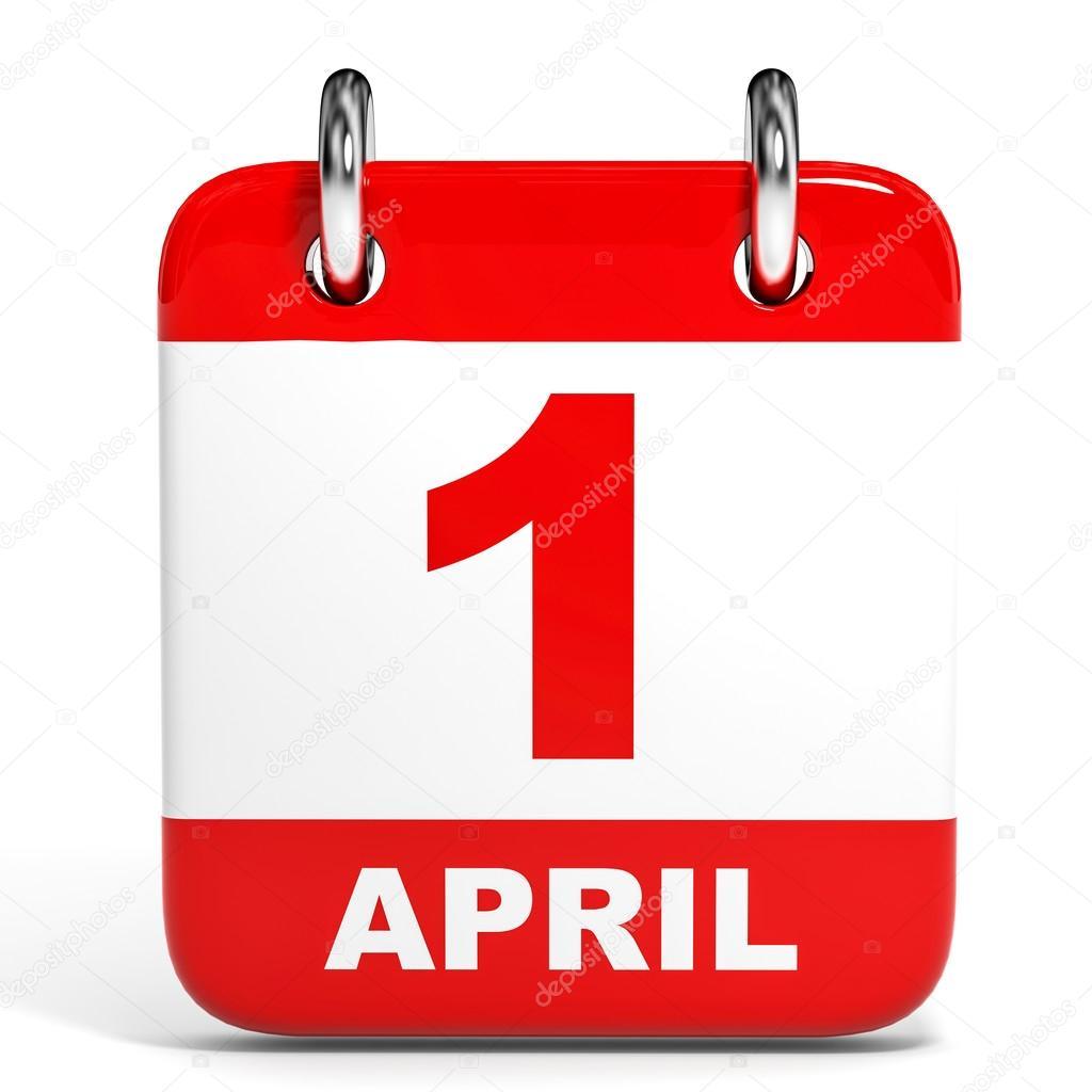 Calendar April Fools : 白色背景上的日历。 月 日 — 图库照片