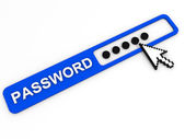 Password field. Internet security concept. — Stock Photo