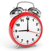 Reloj de alarma rojo. — Foto de Stock