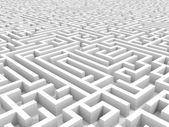 White endless maze. — Stockfoto