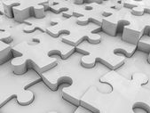 Abstract puzzle pieces background. — Stock Photo