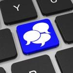 Bubble talk key on keyboard of laptop computer. — Stock Photo #43763625