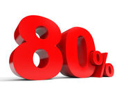 Red eighty percent off. Discount 80 percent. — Stock Photo
