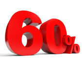 Red sixty percent off. Discount 60 percent. — Stock Photo