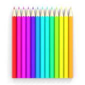 色鉛筆の行. — ストック写真