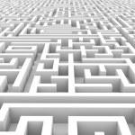 White endless maze. — Stock Photo