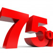 Red seventy five percent off. Discount 75 percent. — Stock Photo #43823345
