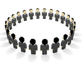 3D business people. — Stock Photo