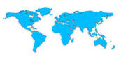 World map. — Stock Photo