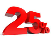 Red twenty five percent off. Discount 25 percent. — Stock Photo