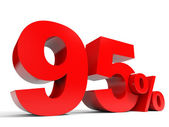 Red ninety five percent off. Discount 95 percent. — Stock Photo