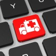 First aid key on keyboard of laptop computer. — Stock Photo #43921391