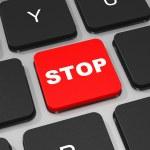 STOP key on keyboard of laptop computer. — Stock Photo #43925085