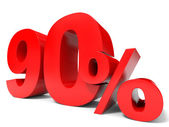 Red ninety percent off. Discount 90 percent. — Stock Photo