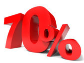 Red seventy percent off. Discount 70 percent. — Stock Photo