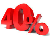 Red forty percent off. Discount 40 percent. — Stock Photo