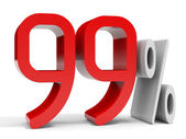 Ninety nine percent off. Discount 10 percent. — Stock Photo