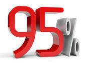 Ninety five percent off. Discount 10 percent. — Stock Photo