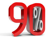Ninety percent off. Discount 10 percent. — Stock Photo