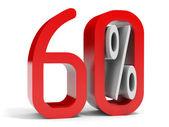 Sixty percent off. Discount 10 percent. — Stock Photo