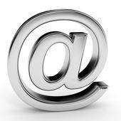 Metallic  e-mail sign. — Stock Photo