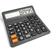 Calculator with BANK on display. — Stock Photo