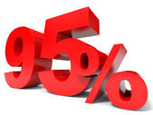 Red ninety five percent off. Discount 95 percent.. — Stock Photo