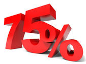 Red seventy five percent off. Discount 75 percent. — Stock Photo