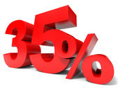Red thirty five percent off. Discount 35 percent. — Stock Photo