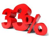 červená třiatřicet procent off. sleva 33 . — Stock fotografie