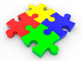 Puzzle solution concept. — Stock Photo