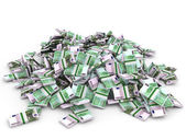 Money heap. One hundred euro. — Stock Photo