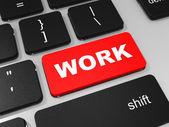 WORK key on keyboard of laptop computer. — Stock Photo