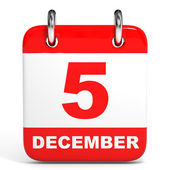 Calendar. 5 December. — Stock Photo